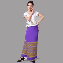 Asia & Pacific women clothing Thailand traditional wear Summer dress festival vestido lady elegant ethnic costume