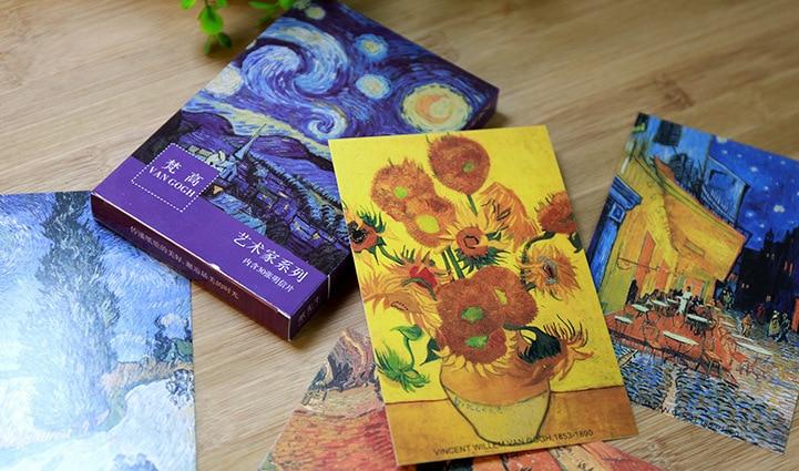 Книга открытка винсент ван гог, поздравлениями