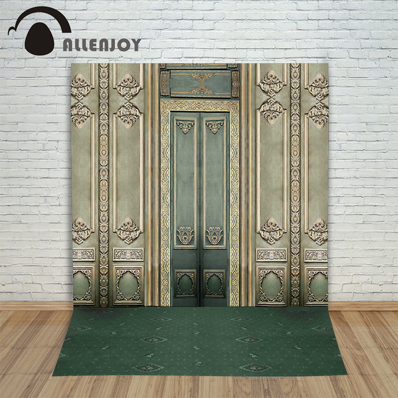 Allenjoy photographic background Retro palace gate backdrops children princess digital summer 10x10ft