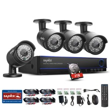 2016 SANNCE 16CH HD 1080N DVR 4 PCS 720P IR Outdoor Video Surveillance Security Camera System 16 Channel DVR Kit With 2 TB HDD