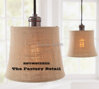 American style Village Style Linen ART Round Copper Lamp Holder Pendant Lamp Cafe Bar Club Store Shop Bedside Hall