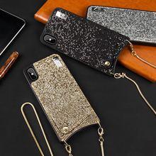 DanYee 5 шт. обувь для девочек Любовь Bling Роскошные Rhinestone цепи Мягкие TPU чехол для iPhone X XS MAX XR бумажник карты задняя крышка