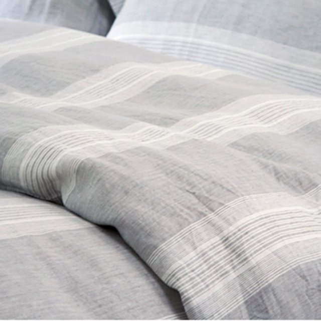 duvet king and cover linen natural amazon pinstriped hm grey white washed