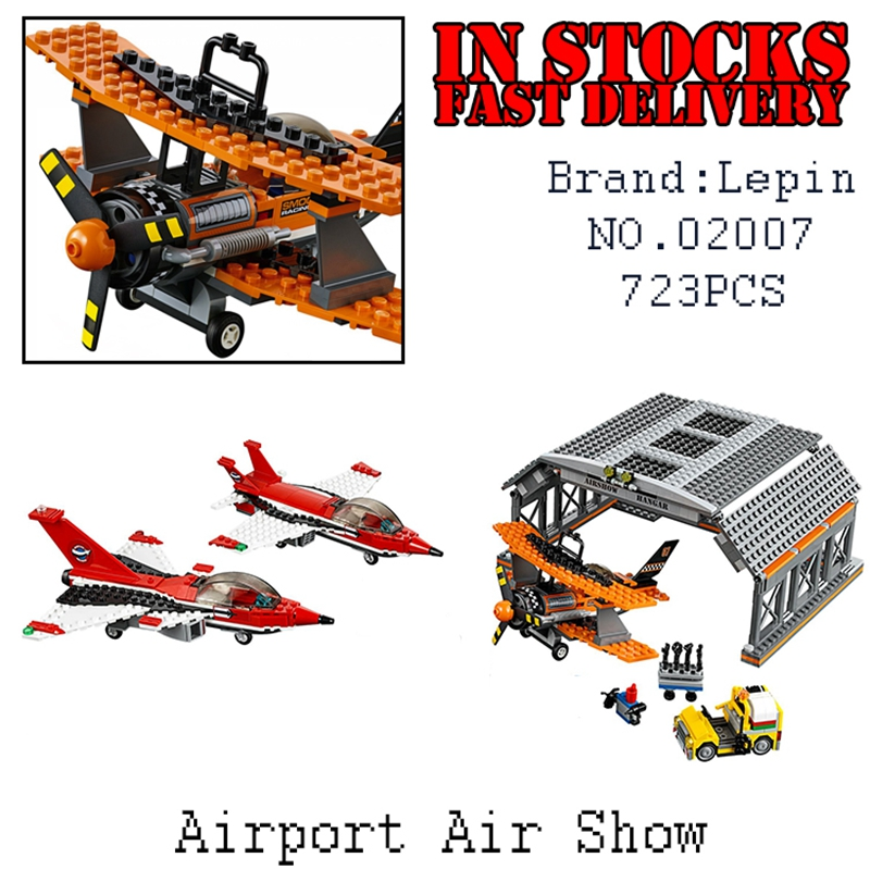 Lepin 02007 723pcs City Series Airport Flight Performance Building Blocks Bricks font b toys b font