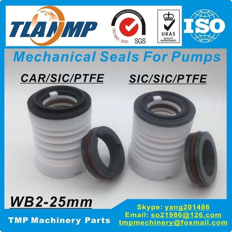WB3 25 PTFE Teflon bellows mechanical seals Material CAR SIC PTFE SIC SIC PTFE For Corrosion