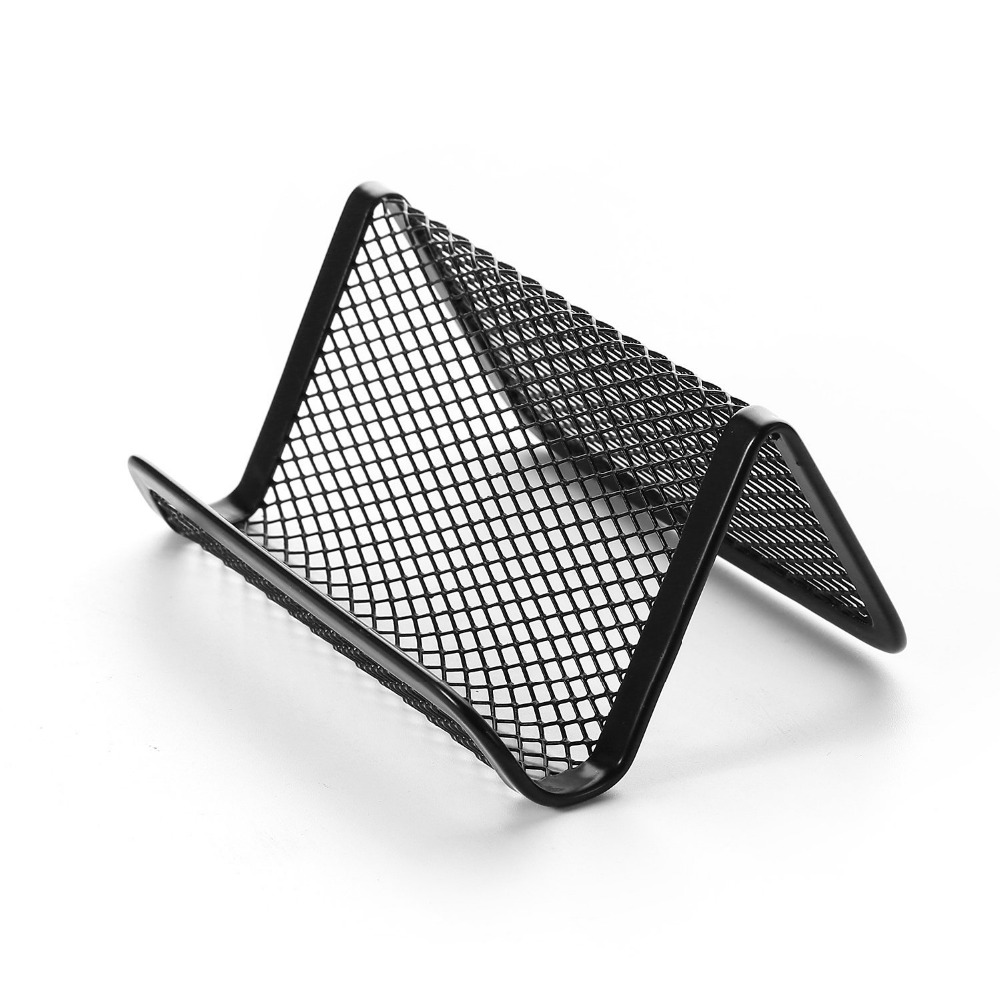 Affordable Mesh Business Card Holder Office Desk Accessory Capacity ...