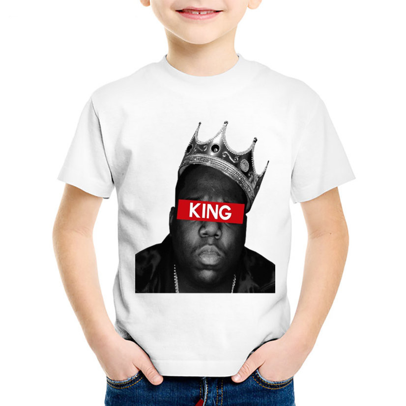 America Hiphop Rapper Star Notorious Big Children T-shirts Kids Biggie Smalls Summer Tees Boys/girls Tops Baby Clothes,hkp456 Bright And Translucent In Appearance