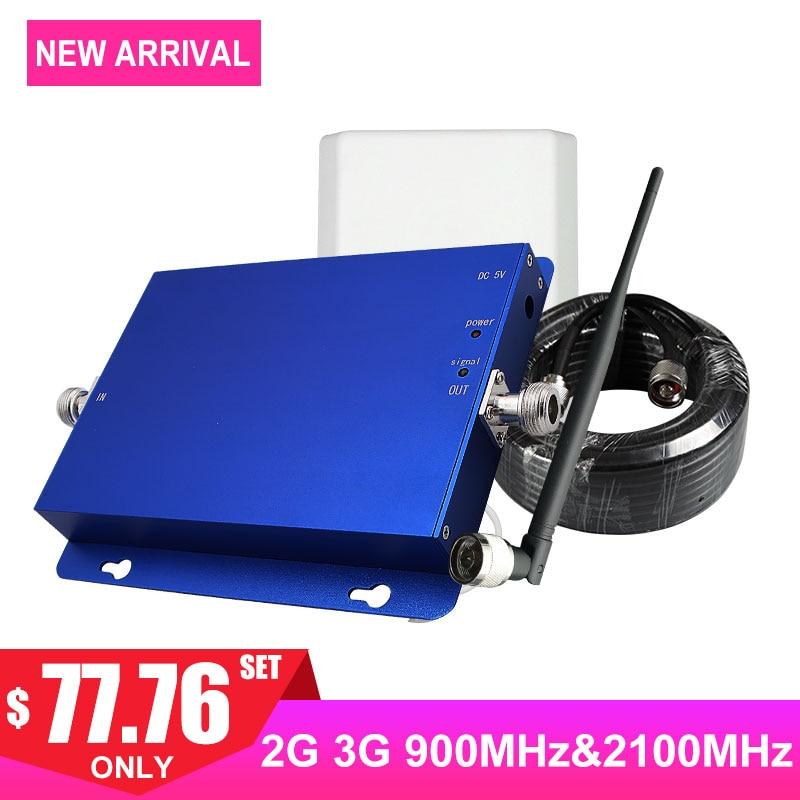 Amplificateur de Signal cellulaire double bande GSM FDD 2G 3G 65dB 900 MHz 2100 MHz Band1 Internet téléphone portable amplificateur de Signal de réseau antenne-