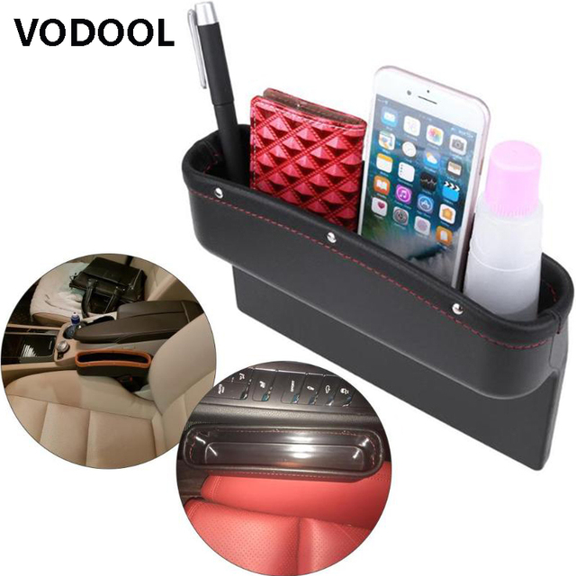 VODOOL Universal Car Leather Leak-proof Storage Box Car Seat Side Gap Pocket Holder Car Organizer Convenient Search Gap Filling