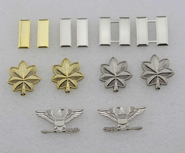 US $31 99 10% OFF|6 PAIRS US ARMY OFFICER'S RANK INSIGNIA PIN BADGE US  ARMED FORCES RANKS PINS-in Sports Souvenirs from Sports & Entertainment on
