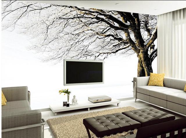 Behang In Badkamer : Custom 3d behang sneeuw natuur landschappen moderne mural