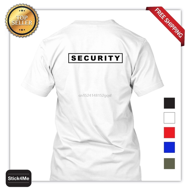 6719a722e Free Shipping Summer Fashion MENS PRINTED SECURITY PARTY STAFF UNIFORM FUNNY  T-SHIRT 2 SIDES