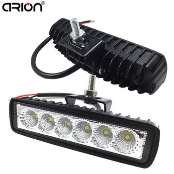 1 sztuk 2 sztuk 18w DRL LED Spot Flood światło robocze Worklight 9-32V 4WD 12 V światła robocze LED dla pojazd terenowy SUV samochodów ciężarowych tanie i dobre opinie CIRION Praca Lekka 8000 k -20-50 Bliski IP67 Included flood spot 9V-32V 1450LM