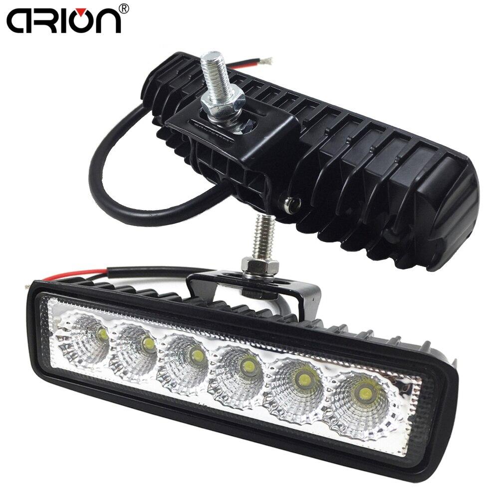1Pcs 2Pcs 18w DRL LED Spot Flood Work Light Worklight 9-32V 4WD 12 volt led work lights for Off Road Vehicle SUV car trucks(China)