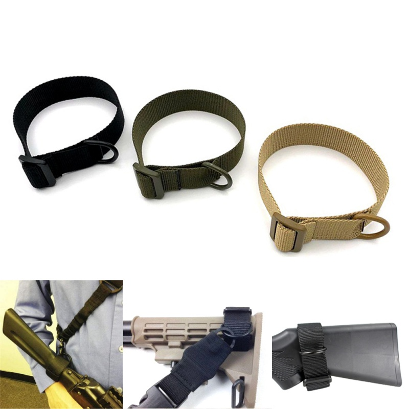 Heavy Duty Tactical ButtStock Sling Adapter Universal Fit For Shotgun Rifle Attachment Mount