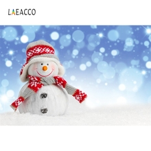 Laeacco Snowman Snow Baby Children Nature Portrait Photography Backgrounds Customized Photographic Backdrop For Photo Studio