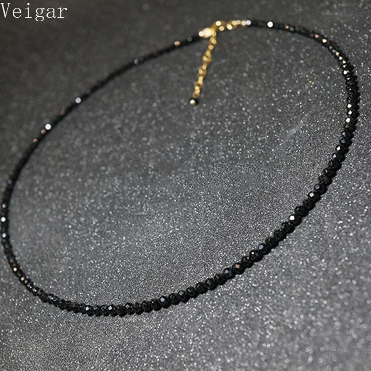 Collana corta semplice perline nere donna 2020 gioielli moda donna girocollo collane Bijoux Femme collana da donna 1