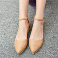 Vogues Ladies Pointed Toe Ankle Strap Ballet Flat Mary Jane Faux Suede Womens Casual Ballet Shoes Buckle Ankle Strap U-