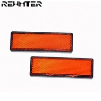 Universal Reflector Plate Sticker on Fork Tube for Ducati Safety Warning Sticker High Quality Motorcycle