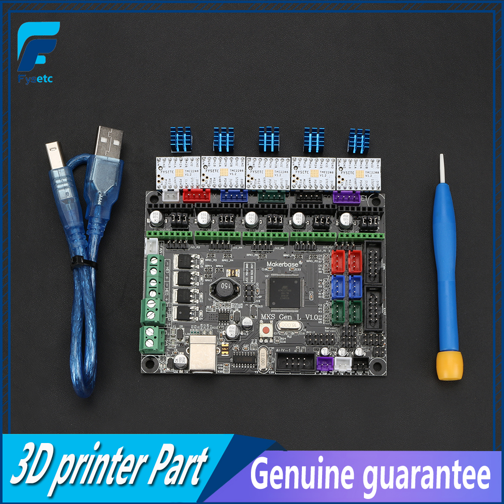 MKS Gen-V1.0 integrado placa base MKS Gen L v1.0 con 5 unids TMC2208 V1.2 paso a paso los controladores para tarántula y Tornado 3D impresora