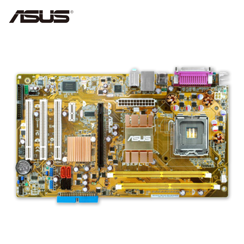 Asus P5KPL-C Original Used Desktop Motherboard G31 Socket LGA 775 DDR2 4G SATA2 USB2.0 ATX asus p5kpl epu original used desktop motherboard p5kpl g31 socket lga 775 ddr2 atx on sale