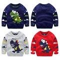 2017 мальчиков свитер утолщение свитер ребенка модели мультфильм дети пуловеры свитера мальчики повседневная свитер
