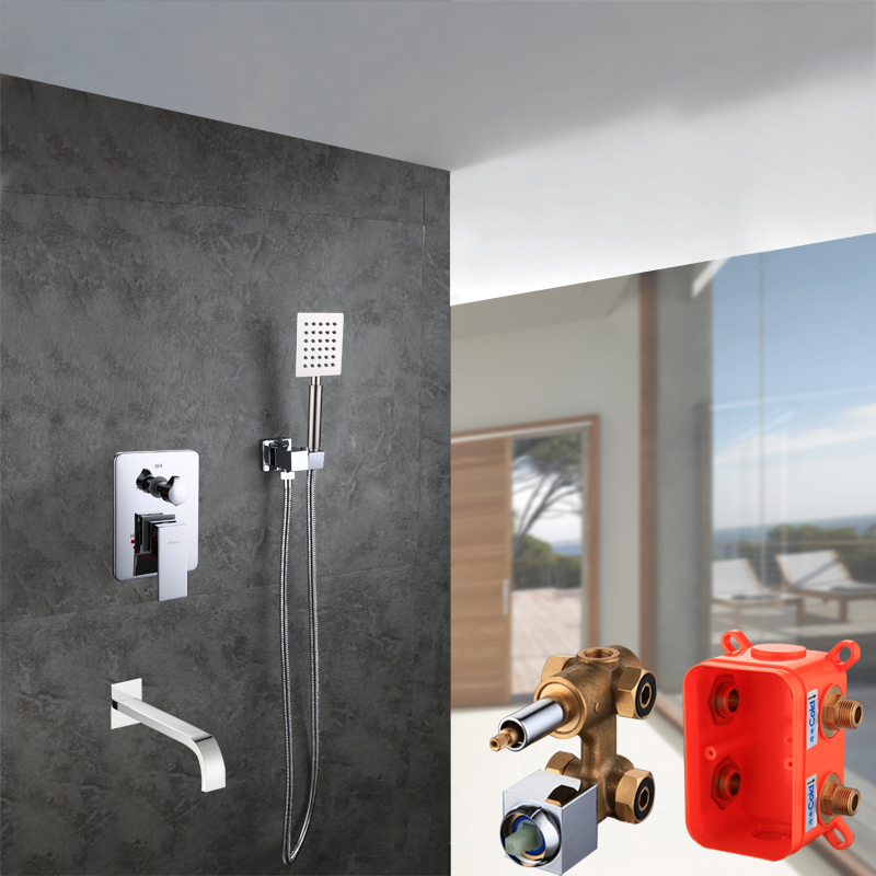 Bathroom Products Concealed Shower Faucet Mixer Copper Dual Functions Detachable Embedded box Valve tap bath & shower Faucet Set цены