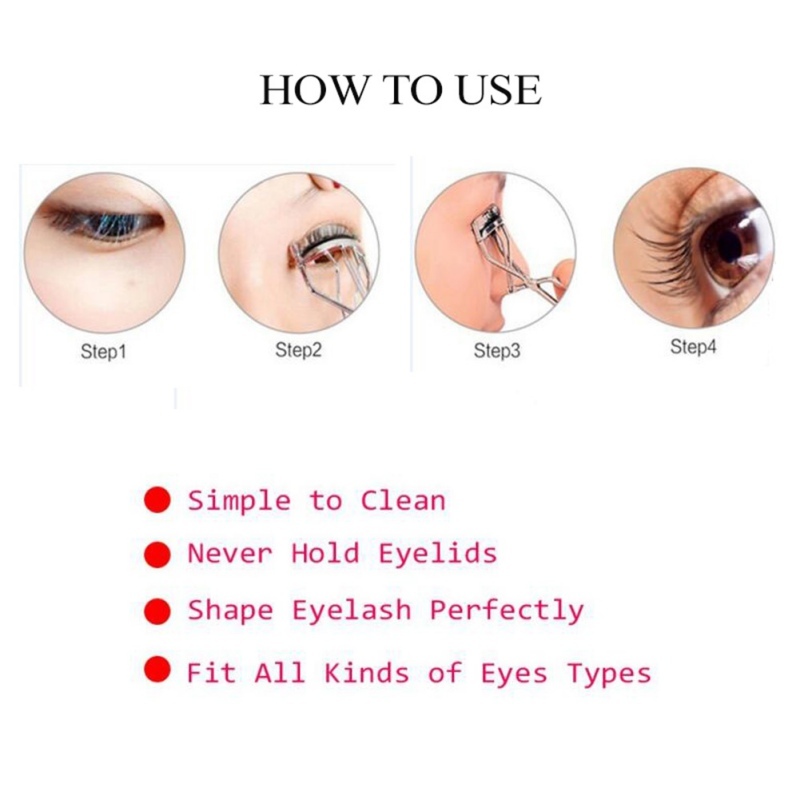 1PC Eyelash Curler Nature Refill Curl Eye Lash Cosmetic Make Up Eyelashes Curler Curling Lashes Curler encrespador de pestanas in Eyelash Curler from Beauty Health