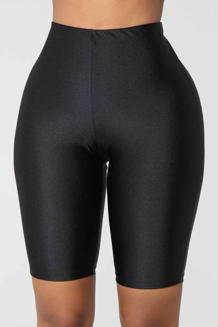 Wanita Kurus Olahraga Pendek Legging Kompresi Kebugaran Strechy Solid Murni Warna Kurus