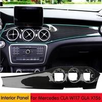 Реальные углеродного волокна автомобилей центральной консоли панель кондиционирования воздуха украшения для Mercedes Benz X156 CLA W117 GLA X156 2013 2018