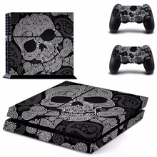 skull Decal PS4 Skin Sticker For Sony Playstation 4 PS4 Console +2Pcs Controller protective skins