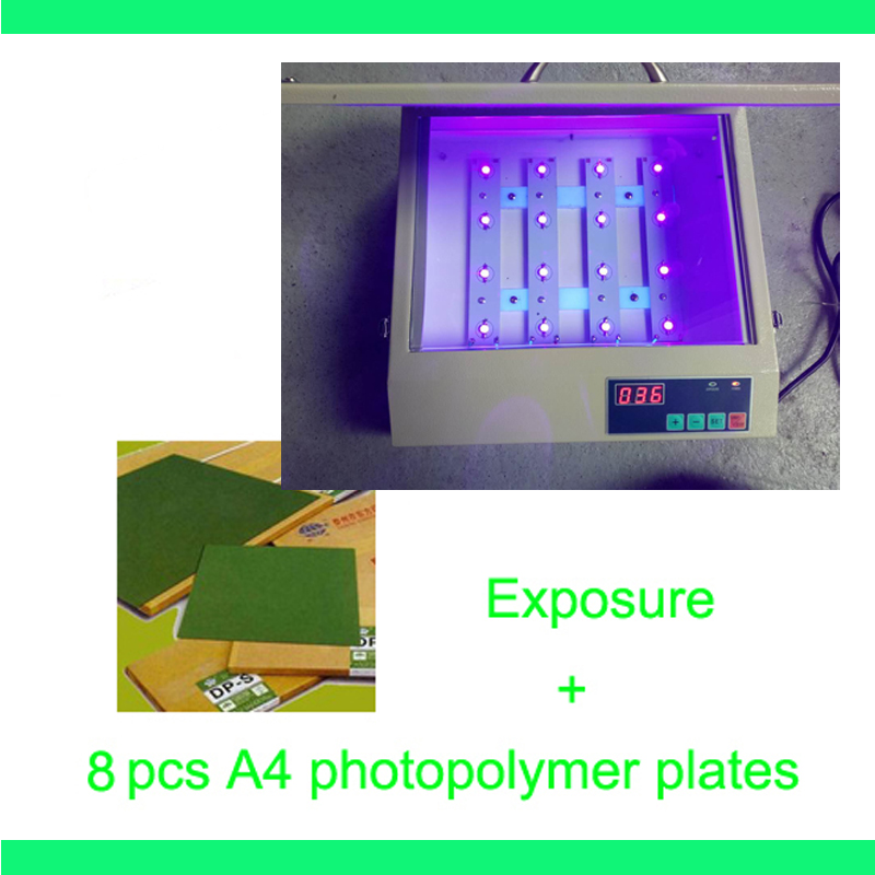 FAST FREE shipping hood quality UV Exposure Unit for Hot Foil Pad Printing PCB + 8 pcs A4 photopolymer plates silk screen plate exposure unit with vacuum exposure unit price expsoure unti for sale page 3