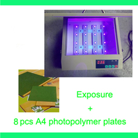 FAST FREE shipping hood quality UV Exposure Unit for Hot Foil Pad Printing PCB + 8 pcs A4 photopolymer plates