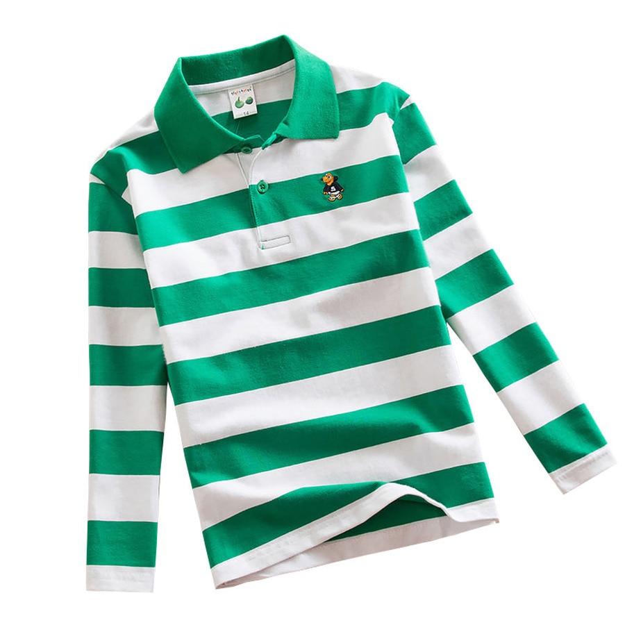Famli Teenagers Shirt Boys Fashion T Shirt Teen Kids Cotton Striped T-shirt Children Spring Long Sleeves Tee Top 10 12 14 16