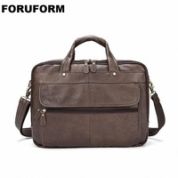 Fashion Cowhide Male Commercial Briefcase Real Leather Vintage Men S Messenger Bag Casual Natural Cowskin Business