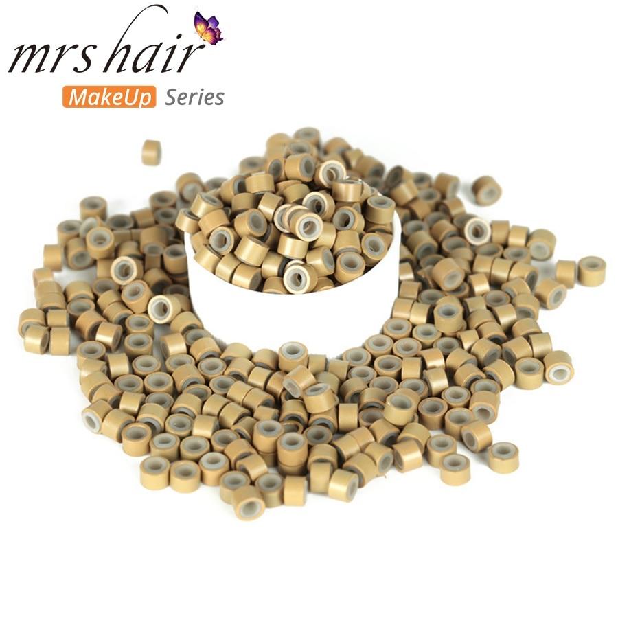 Silikon Mikro Tautan Manik-manik Manik-manik Rambut + Jarum Kait + - Perawatan rambut dan styling - Foto 3