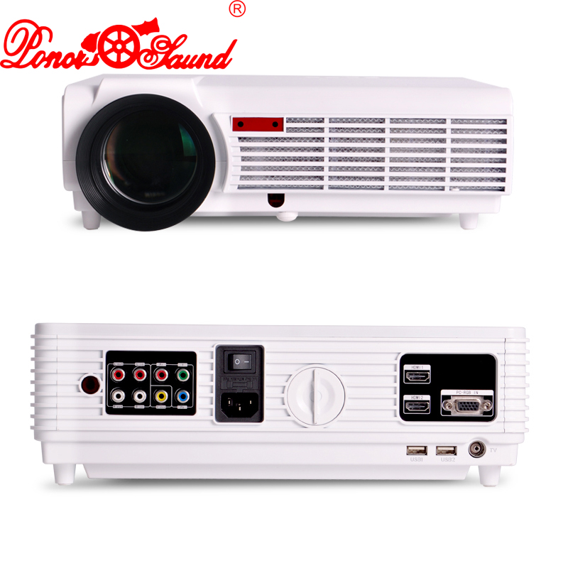 Poner Saund Full Hd New Mini Projector Proyector Led Lcd: Poner Saund New Projector Led 96 5500 Lumens Support 1080p