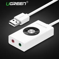 Ugreen USB Sound Card USB Audio Extenal USB 5 1 Sound Card Audio Mic Headphone Jack