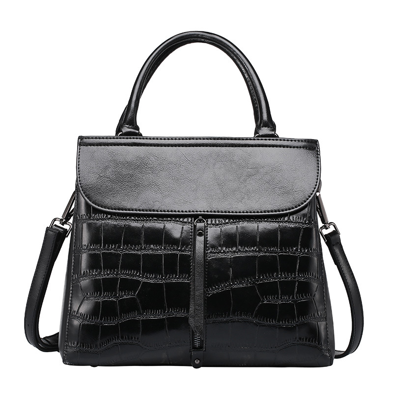 European and American Style Women's Genuine Leather Handbags Big Size Stone Luxury Handbags Women Bags Women Messenger Bags european and american style new women genuine leather handbags crocodile grain first layer of cowhide shoulder messenger bags