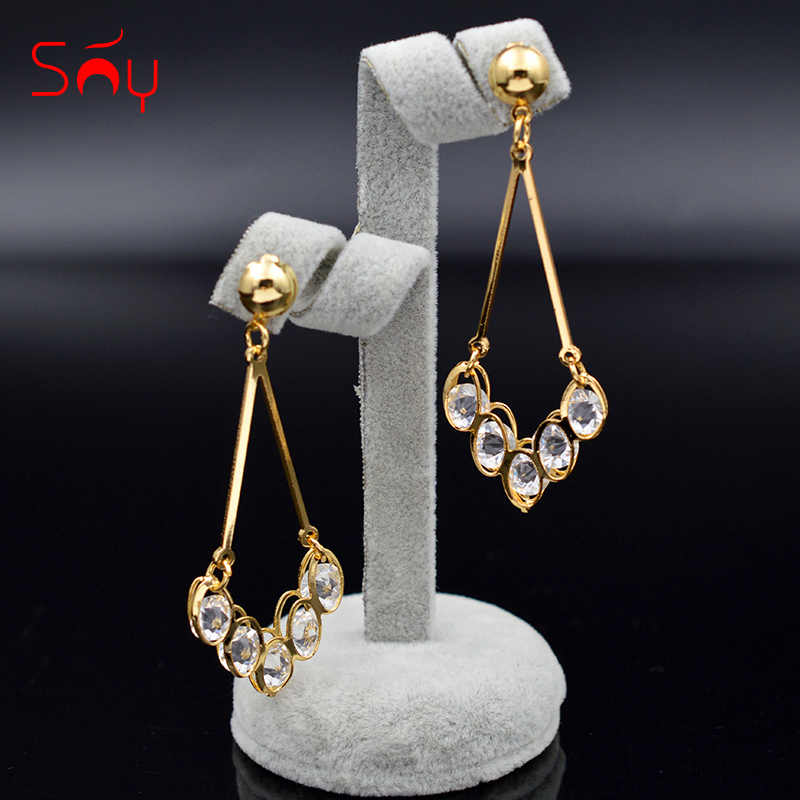 Sunny Jewelry Trendy Jewelry Drop Dangle Earrings For Party Birthday Gifts Water Drop Cubic Zirconia Earrings For Women Gifts