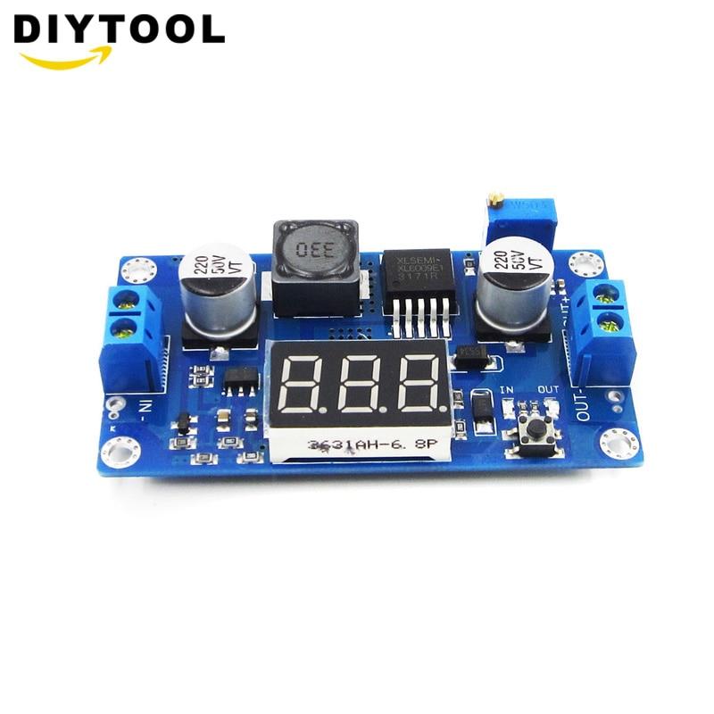 5PCS DC 4.5-32V to 5V-52V XL6009 Boost Step-up Module Power Supply LED Voltmeter