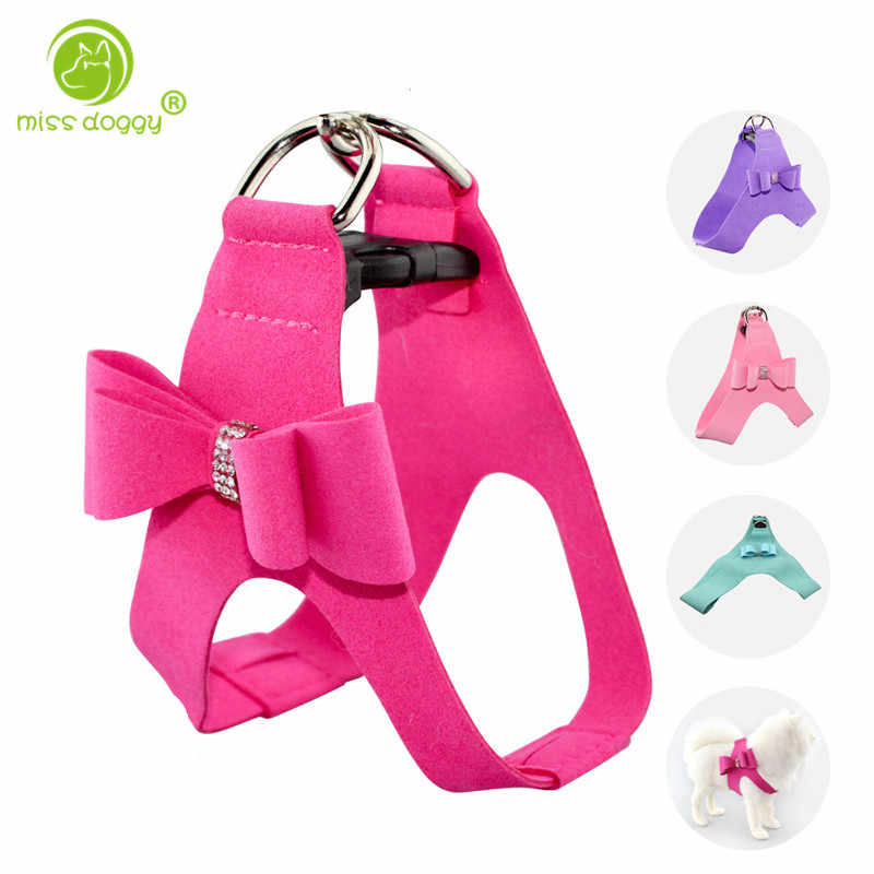 Christmas New Style Big Bow Tie Pet Dog Chest Leash and Harnesses Sets Adjustable Dog Harnesses Pet Vest Strap Accessories 920E