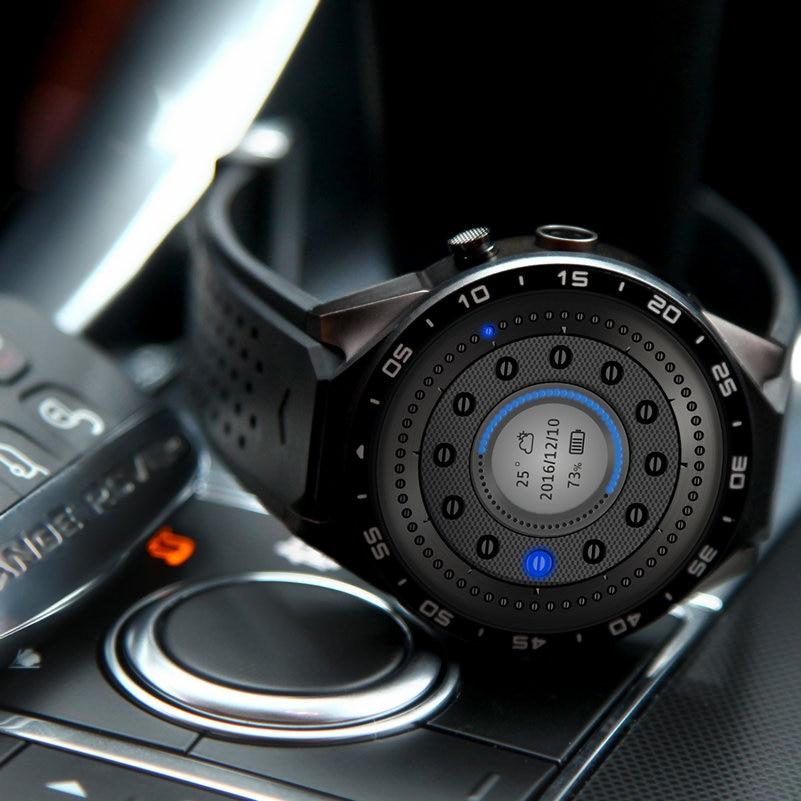 KW88 Smart Watch Phone Android 5.1 Quad Core MTK6580 512 MB di RAM 4 GB ROM Supporto Frequenza Cardiaca 3G Wifi GPS Sensore di Gravità Pedometro - 4