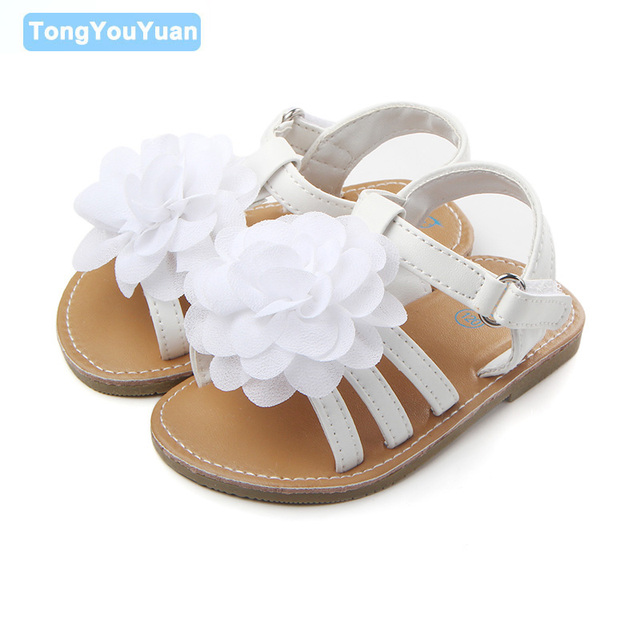 Aliexpress buy new arrival white flower pu leather vamp rubber new arrival white flower pu leather vamp rubber hard sole ourdoor toddler sandals baby girl shoes mightylinksfo