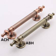 255mm europen vintage style unfold install wooden door handle bronze ktv home wooden door pull red