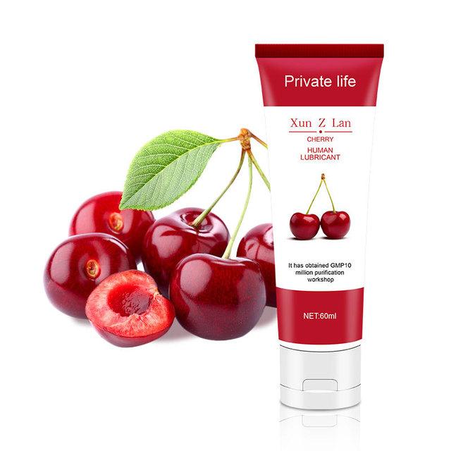 Human Lubricant Fruits Fun Flavor Lube Banana Grape Cherry Peach Lemon Strawberry for Oral, Vaginal and Anal Sex 30ml 60ml 100ml