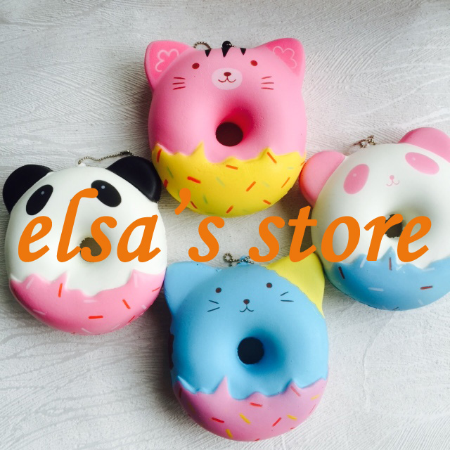 Squishy Donut Unicorn : squishy wholesale 20pcs rare kawaii squishy jumpo cute anime panda donut straps squishy toys ...