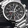 BENYAR Fashion Chronograph Sport Mens Watches Top Brand Luxury Military Stainless Steel Strap Quartz Watch Relogio