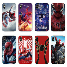 Marvel Comics DC Spider-Man joker Batman soft silicone clear Cover Case for iphone 7 6 6S 8 plus 5S SE X XR XS Max