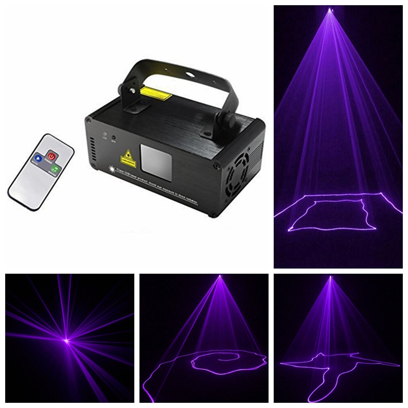 AC100 240V Remote DMX 512 Laser Stage Lighting Scanner DJ Projector Party Light Stage Light Amazing lighting effects Purple